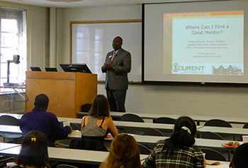 Dr. Brothers presents to CURENT students